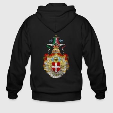 Italian Coat of Arms Italy Symbol - Men's Zip Hoodie