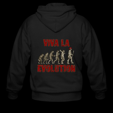 Viva La Evolution #2 - Men's Zip Hoodie
