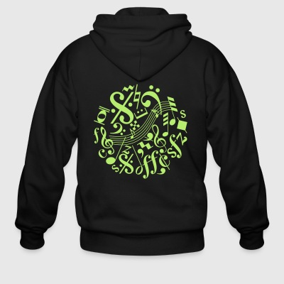 Music Notes and Signs - Men's Zip Hoodie