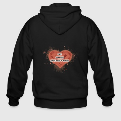 he fixes brokenness - Men's Zip Hoodie