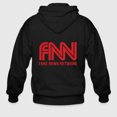 FNN fake news network - Men's Zip Hoodie