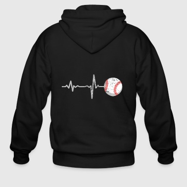 gift heartbeat baseball - Men's Zip Hoodie