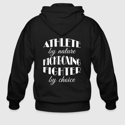 Kickboxing Choice Gift-Athlete Awesome Present - Men's Zip Hoodie
