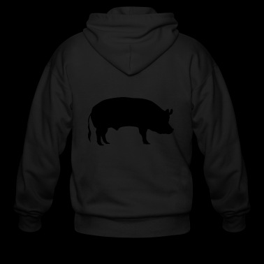 Pig Piggy Miss Piggie Farmer Hog Swine Gift - Men's Zip Hoodie