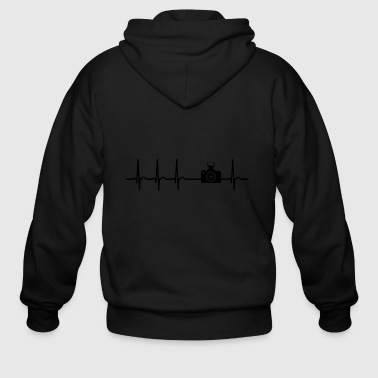 Heartbeat Photograph Camera Picture cool fun gift - Men's Zip Hoodie