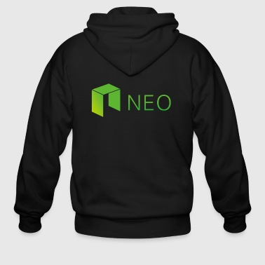 Neo Cryptocurrency logo - Men's Zip Hoodie