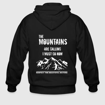 the mountains are calling I must go now - Men's Zip Hoodie