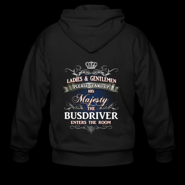 Shirts for Men, Job Shirt Busdriver - Men's Zip Hoodie