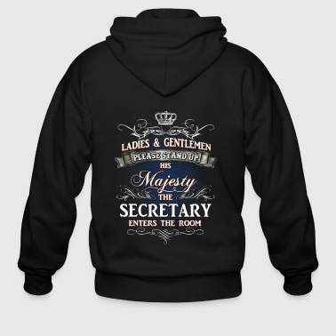 Shirts for Men, Job Shirt Secretary - Men's Zip Hoodie