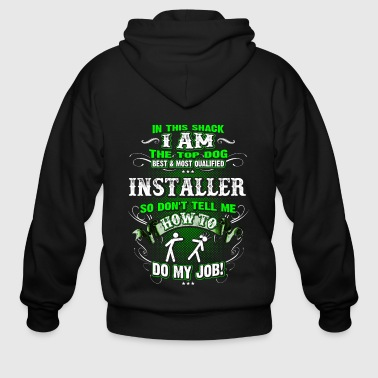 Shirts for Men, Job Shirt Installer, Plumber - Men's Zip Hoodie