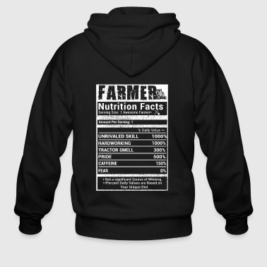 Farmer nutrition facts T Shirts - Men's Zip Hoodie