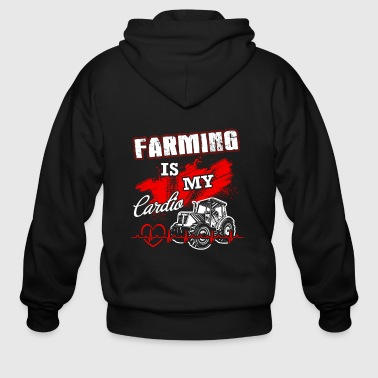 Farming is my lardio T Shirts - Men's Zip Hoodie
