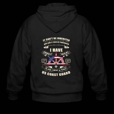 United States Coast Guard T-Shirt - Men's Zip Hoodie
