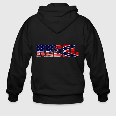 Confederate Rebel - Men's Zip Hoodie