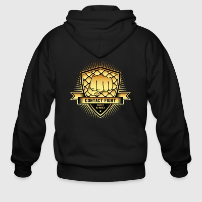 Contact Fight Gold - Men's Zip Hoodie