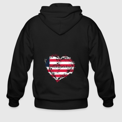 HOME ROOTS COUNTRY GIFT LOVE Liberia - Men's Zip Hoodie