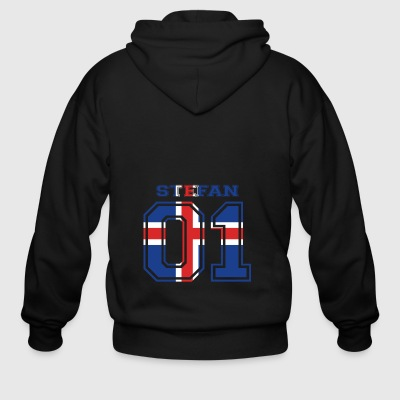 home wurzeln name iceland island STEFAN - Men's Zip Hoodie
