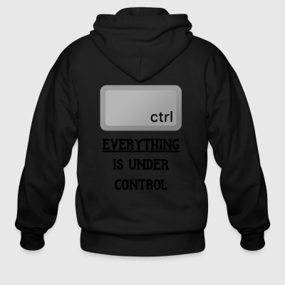 Everything is under Ctrl T Shirt - Men's Zip Hoodie