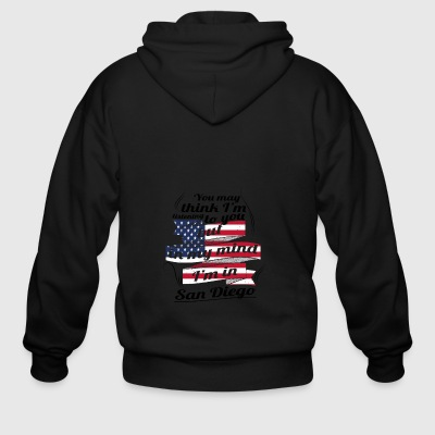 THERAPIE URLAUB AMERICA USA TRAVEL San Diego - Men's Zip Hoodie