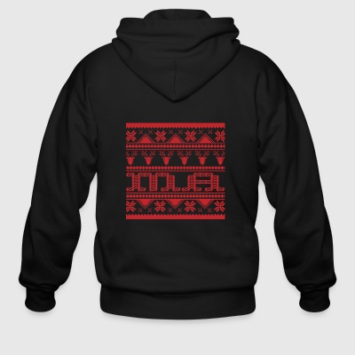Christmas Ugly Xmas Sweater Ma - Men's Zip Hoodie
