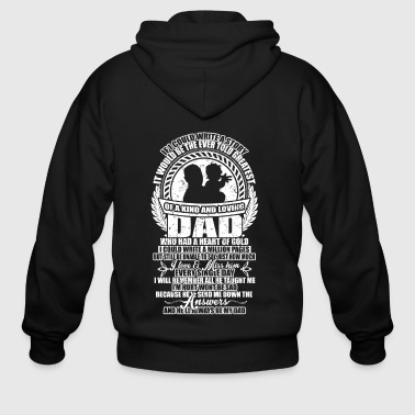 A Kind And Loving Dad T Shirt - Men's Zip Hoodie