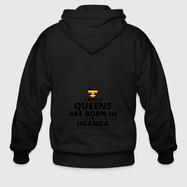 GESCHENK QUEENS LOVE FROM UGANDA - Men's Zip Hoodie