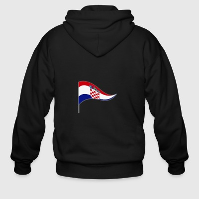 Croatia zagreb Europa Flag Banner Flags Ensigns - Men's Zip Hoodie