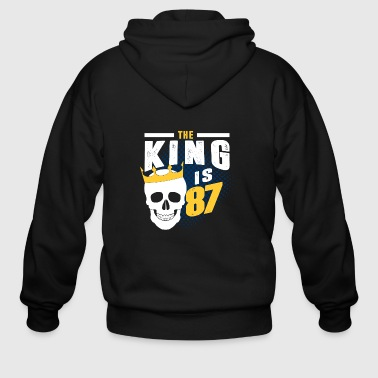 the king is 87 - Men's Zip Hoodie