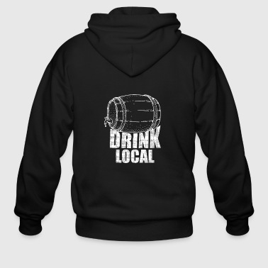drink local - Men's Zip Hoodie