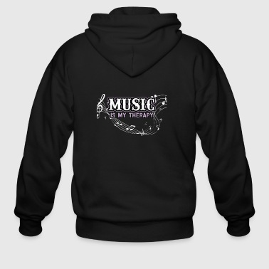 Music is my therapy - Men's Zip Hoodie