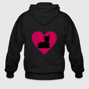 I love fast food - Men's Zip Hoodie