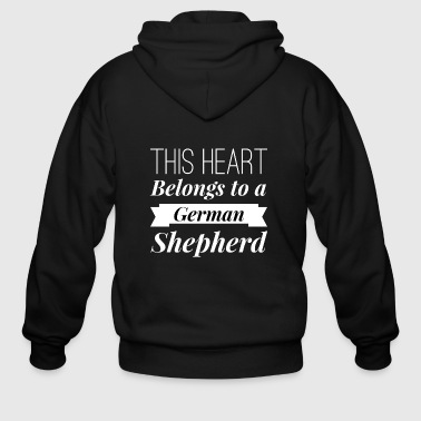German Shepherd heart - Men's Zip Hoodie