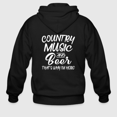 Country Music And Beer - Men's Zip Hoodie