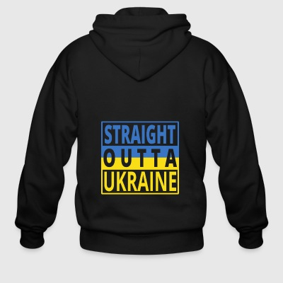 Straight outta UKRAINE png - Men's Zip Hoodie