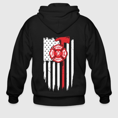 Firefighter Fire Dept Shirt - Men's Zip Hoodie