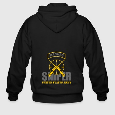 Ranger US Army Team Sniper - Men's Zip Hoodie