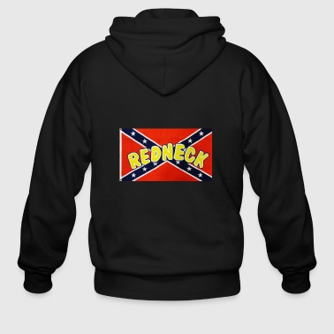 redneck confederate flag 1 - Men's Zip Hoodie