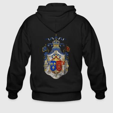 French Coat of Arms France Symbol - Men's Zip Hoodie