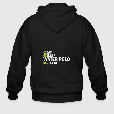 Eat, sleep, water polo, repeat - gift - Men's Zip Hoodie