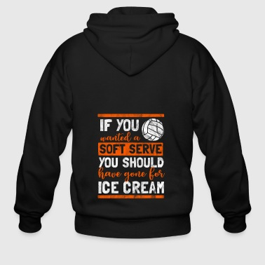 Shirt as a gift for volleyball - soft serve - Men's Zip Hoodie