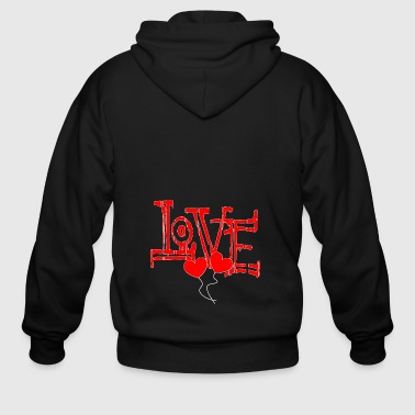Valentine´s day February love gift - Men's Zip Hoodie