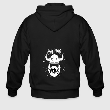 Viking Dad Barbarian Beard Father Gift Nordic - Men's Zip Hoodie