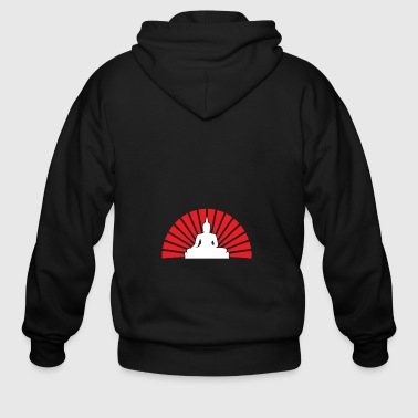 Sunrise Buddha gift for Buddhists - Men's Zip Hoodie