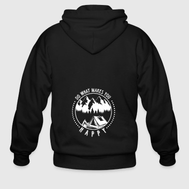 (Gift) Camping on mountain Do what makes you happy - Men's Zip Hoodie