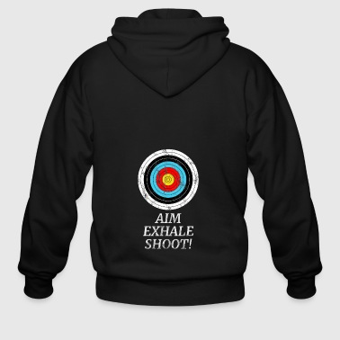 ARCHER TARGET ARCHERY BOW AND ARROW GIFT SHOOTING - Men's Zip Hoodie