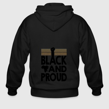 Black and Proud - Men's Zip Hoodie