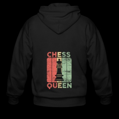 queen chess gift love playing game board field - Men's Zip Hoodie