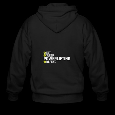 Eat, sleep, powerlifting, repeat - gift - Men's Zip Hoodie