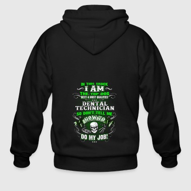 Dental technician Shirts for Men, Job Shirt, Skull - Men's Zip Hoodie