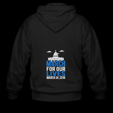March For Our Lives 2018 New York, Washington - Men's Zip Hoodie